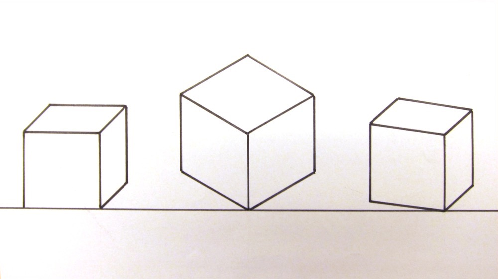 Gleicher Würfel in: Kabinettsperspektive, Isometrie und Diemetrie